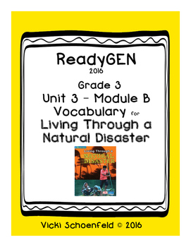 ReadyGEN Vocabulary Living Through a Natural Disaster