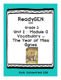 ReadyGEN Vocabulary The Year of Miss Agnes