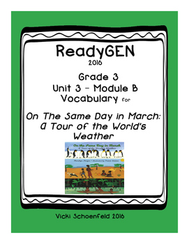 ReadyGEN Vocabulary for On the Same Day in March: A Tour of the World's Weather