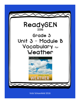 ReadyGEN Vocabulary for Weather by Seymour Simon