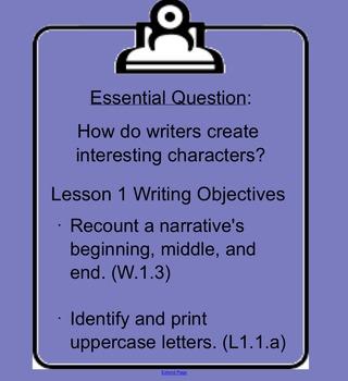 ReadyGEN 2014-15 Writing SMART Notebook Slides Grade 1 Unit 1 Module A