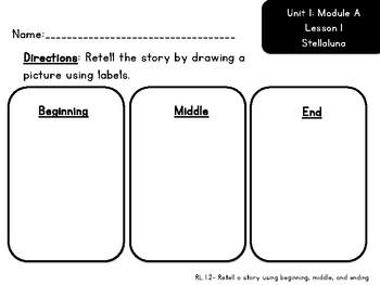 ReadyGen 1st Grade - Unit 1 Response Sheets