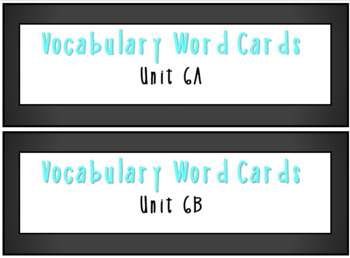 ReadyGen 1st Grade Vocabulary Word Cards BUNDLE