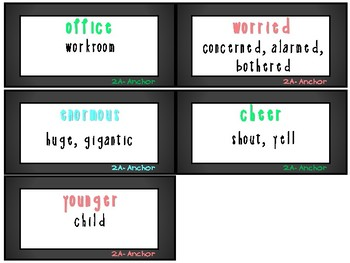 ReadyGen 1st Grade Vocabulary Word Cards Unit 2