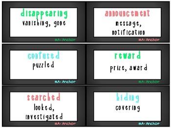 ReadyGen 1st Grade Vocabulary Word Cards Unit 5