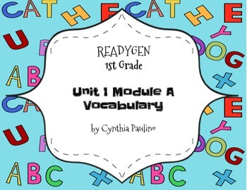 ReadyGen 2014-2015 Unit 1 Module A Vocabulary