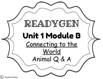 2014-2015 ReadyGen Unit 1 Module B Concept Board