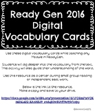 ReadyGen 2016 DIGITAL Vocabulary Cards