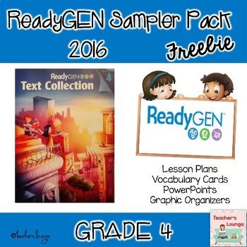 ReadyGen 2016 EDITABLE Sampler Packet FREE - Grade 4