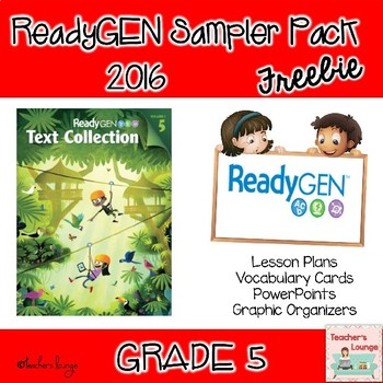 ReadyGen 2016 EDITABLE Sampler Packet FREE - Grade 5