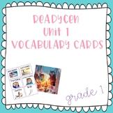 ReadyGen Grade 1 Unit 1 Vocabulary Cards