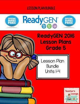 ReadyGen 2016 Lesson Plans BUNDLED - Grade 5