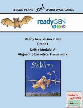 ReadyGen 2016 Lesson Plans Unit 1A - Word Wall Cards - EDITABLE - Grade 1