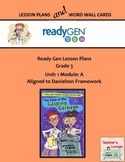 ReadyGen 2016 Lesson Plans Unit 1A - Word Wall Cards - EDITABLE - Grade 3