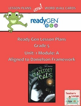 ReadyGen 2016 Lesson Plans Unit 1A - Word Wall Cards - EDITABLE - Grade 5