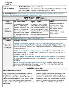 ReadyGen 2016 Lesson Plans Unit 1A - Word Wall Cards - EDITABLE -Kindergarten