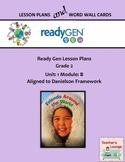ReadyGen 2016 Lesson Plans Unit 1B - Word Wall Cards - EDITABLE - Grade 2