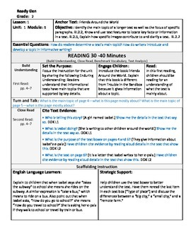 ReadyGen 2016 Lesson Plans Unit 1B - Word Wall Cards - EDITABLE - Grade 2