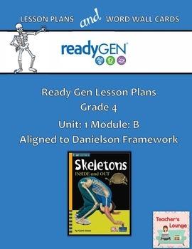 ReadyGen 2016 Lesson Plans Unit 1B - Word Wall Cards - EDITABLE - Grade 4
