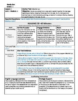ReadyGen 2016 Lesson Plans Unit 1B - Word Wall Cards - EDITABLE - Grade 5