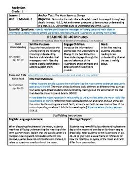 ReadyGen 2016 Lesson Plans Unit 1B - Word Wall Cards - EDITABLE - Grade 3