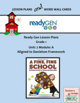 ReadyGen 2016 Lesson Plans Unit 2A - Word Wall Cards - EDI
