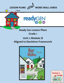 ReadyGen 2016 Lesson Plans Unit 2B - Word Wall Cards - EDITABLE - Grade 1