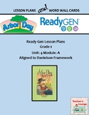 ReadyGen 2016 Lesson Plans Unit 4A - Word Wall Cards - EDITABLE - Grade 1