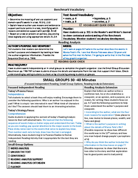 ReadyGen 2016 Lesson Plans Unit 4A - Word Wall Cards - EDITABLE - Grade 5