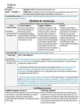 ReadyGen 2016 Lesson Plans Unit 4B - Word Wall Cards - EDITABLE - Grade 1