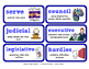 ReadyGen 2016 Lesson Plans Unit 4B - Word Wall Cards - EDITABLE - Grade 3