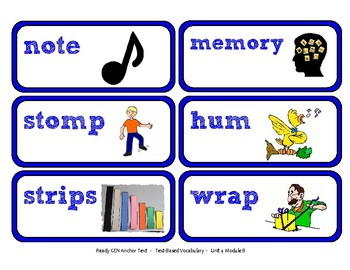 ReadyGen 2016 Lesson Plans Unit 4B - Word Wall Cards - EDITABLE -Kindergarten