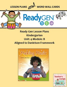 ReadyGen 2016 Lesson Plans Unit 4B - Word Wall Cards - EDI
