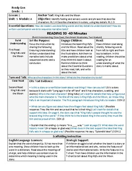 ReadyGen 2016 Lesson Plans Unit 5A - Word Wall Cards - EDITABLE - Grade 1