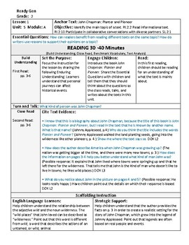 ReadyGen 2016 Lesson Plans Unit 5A - Word Wall Cards - EDITABLE - Grade 2