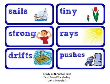 ReadyGen 2016 Lesson Plans Unit 5A - Word Wall Cards - EDITABLE -Kindergarten