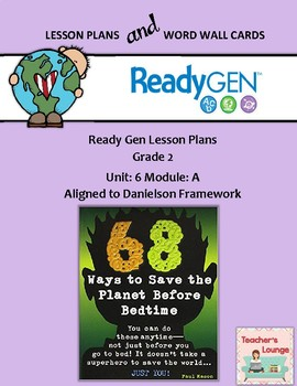 ReadyGen 2016 Lesson Plans Unit 6A - Word Wall Cards - EDITABLE - Grade 2