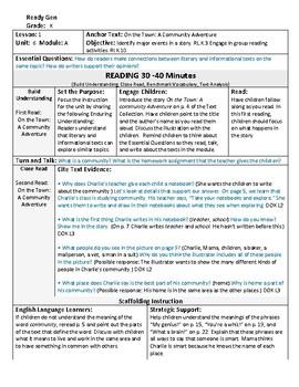 ReadyGen 2016 Lesson Plans Unit 6A - Word Wall Cards - EDITABLE -Kindergarten