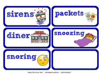 ReadyGen 2016 Lesson Plans Unit 6B - Word Wall Cards - EDITABLE -Kindergarten