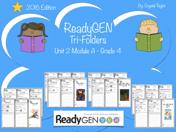ReadyGen 2016 edition: Unit 2 Module A Trifold Organizers for 4th Grade