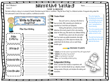 ReadyGen 2016 edition: Unit 2 Module A Writing Practice for 4th Grade.