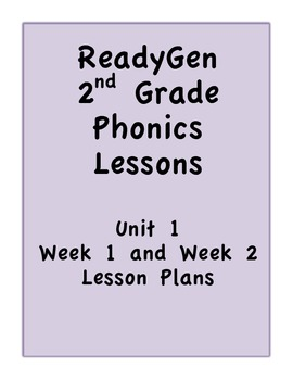 Pearson's ReadyGen 2nd Grade Phonics Lessons:Weeks 1 and 2