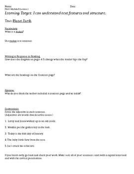 ReadyGen 2nd Grade Unit 4 Module B Lessons 1 - 12