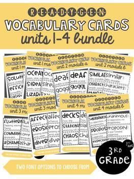 ReadyGen | 3rd Grade Text Based Vocabulary Bundle