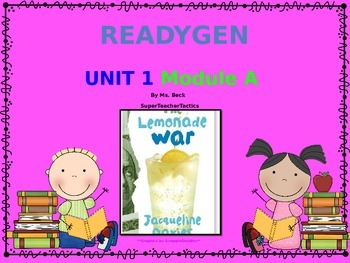 ReadyGen 3rd Grade Unit 1 PowerPoint, Module A, Lessons 1-5