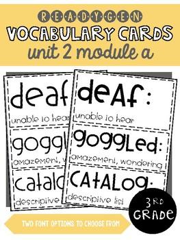 ReadyGen | 3rd Grade Unit 2 Module A Vocabulary