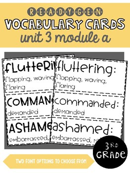ReadyGen | 3rd Grade Unit 3 Module A Vocabulary