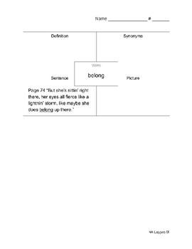 ReadyGen 3rd Grade Unit 4 Module A Vocabulary Organizers