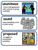 ReadyGen A More Perfect Union Vocabulary Cards 3rd Grade Unit 4 Module B