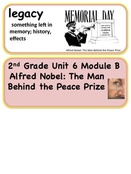 ReadyGen Alfred Nobel: The Man Behind the Peace Prize 2nd Grade Unit 6 Voc